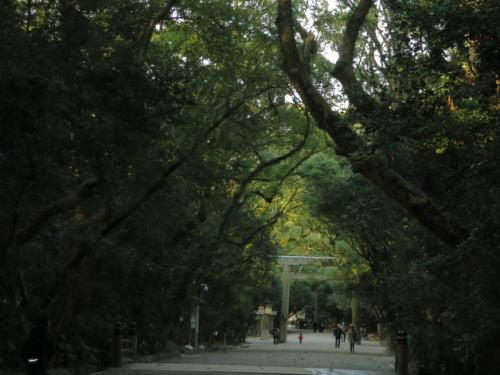熱田神宮参道 日暮れ時