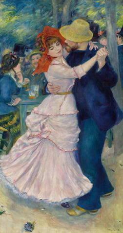 ルノワールの時代展より「ブージバルのダンス」