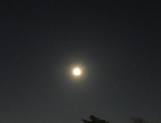 元旦の夜空の写真 月の光