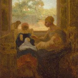 ミレー作:1874年「裁縫のお稽古」