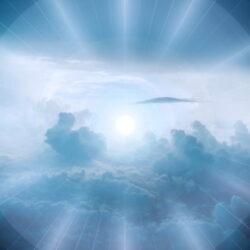 青い空と光(太陽)